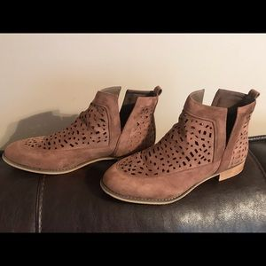Brown ankle booties size 11